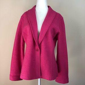 Eileen Fisher Pink Wool Blend Jacket Blazer M